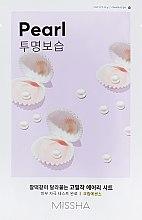 Profumi e cosmetici Maschera viso con estratto di perla - Missha Airy Fit Pearl Sheet Mask