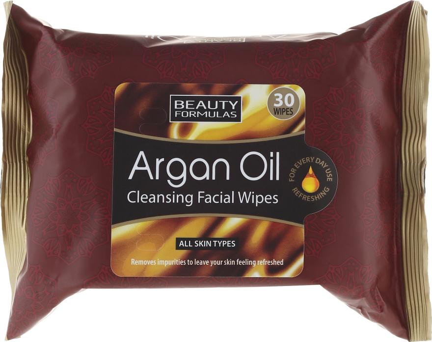 Salviette struccanti viso - Beauty Formulas Argan Oil Cleansing Facial Wipes