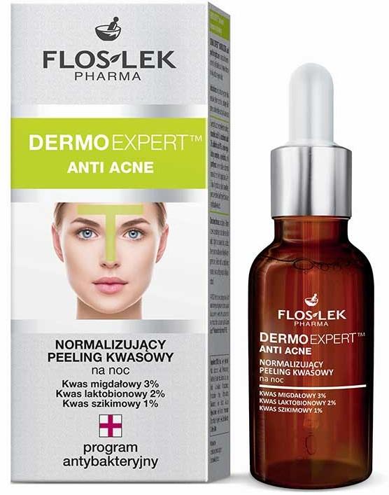 Peeling per la notte - Floslek Dermo Expert Anti Acne Peeling