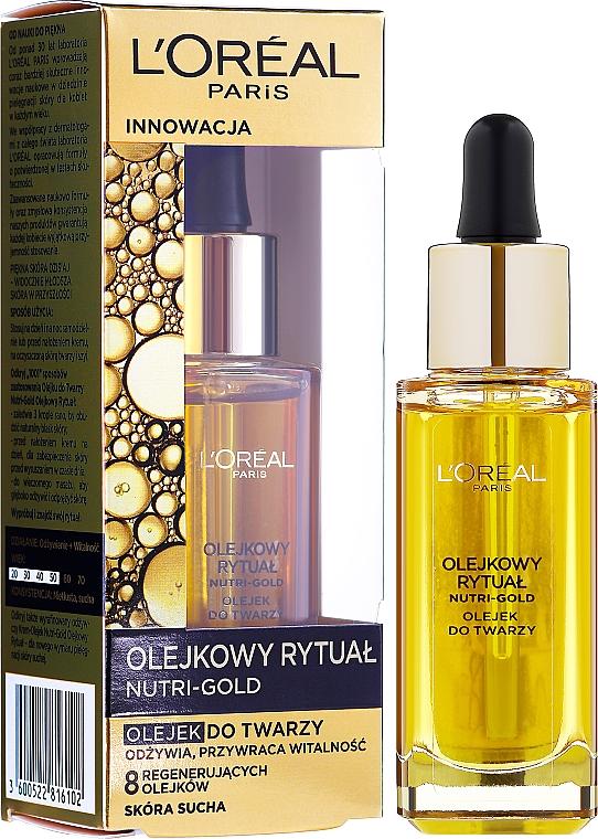 Olio viso - L'Oreal Paris Nutri Gold Face Oil Dry Skin — foto N2