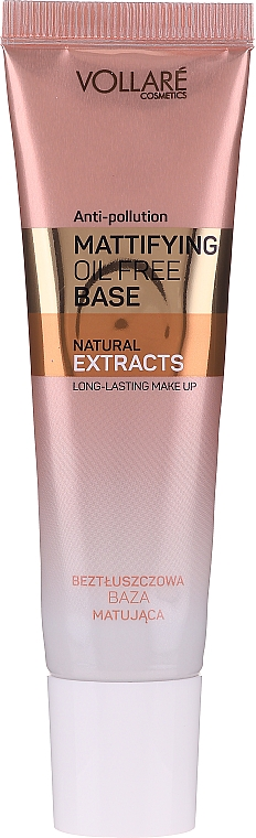 Base trucco opacizzante - Vollare Mattifying Oil Free Natural Extracts Base Long-Lasting Make Up