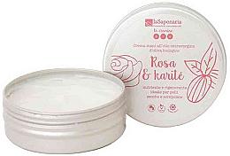 """Profumi e cosmetici Crema mani """"Rosa e karitè"""" - La Saponaria Hand Cream Rose and Shea Butter"""