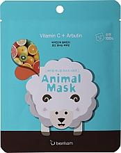 Profumi e cosmetici Maschera alla vitamina C e all'arbutina - Berrisom Animal Mask Vitamin C + Arbutin Series Sheep