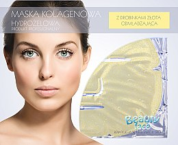 Profumi e cosmetici Maschera con collagene e particelle d'oro - Beauty Face Collagen Hydrogel Mask