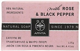 "Profumi e cosmetici Sapone ""Rosa e pepe nero"" - Apivita Soap with Rose and Black pepper"