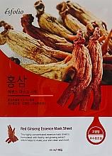 "Profumi e cosmetici Maschera in tessuto ""Estratto di ginseng"" - Esfolio Red Ginseng Essence Mask Sheet"