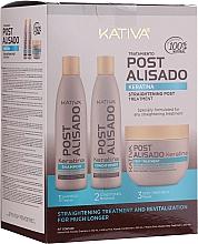 Profumi e cosmetici Set - Kativa Straightening Post Treatment Keratin (shm/250ml + cond/250ml + mask/250ml)