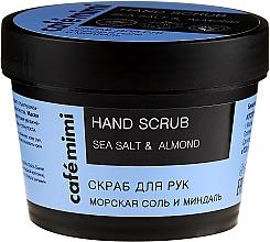 "Profumi e cosmetici Scrub mani ""Sale marino e mandorle"" - Cafe Mimi Hand Scrub"