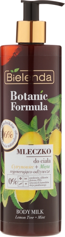 """Latte corpo """"Limone e menta"""" - Bielenda Botanic Formula Lemon Tree Extract + Mint Body Milk"""