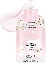 Profumi e cosmetici Crema viso rinfrescante con estratto di fiori bianchi - Beausta Pink Tone-Up Cream