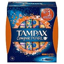 Profumi e cosmetici Tamponi con applicatore, 18 pz. - Tampax Pearl Compak Super Plus