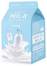 """Profumi e cosmetici Maschera idratante """"Crema"""" - A'Pieu Milk One-Pack Hydrating White Milk"""