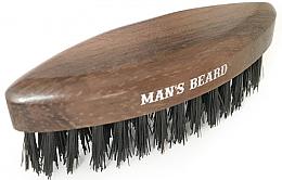 Profumi e cosmetici Spazzola per barba, da viaggio, in legno - Man'S Beard Travel Beard Brush Without Wooden Handle