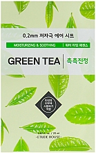 Profumi e cosmetici Maschera viso ultrasottile con estratto di tè verde - Etude House Therapy Air Mask Green Tea