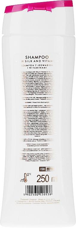 Shampoo alla seta e vitamine - Silcare Quin Silk & Vitamins Shampoo — foto N2