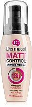 Profumi e cosmetici Fondotinta opacizzante impermeabile - Dermacol Matt Control