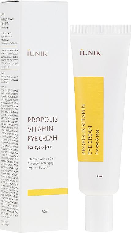 Crema per gli occhi al propoli - iUNIK Propolis Vitamin Eye Cream For Eye & Face