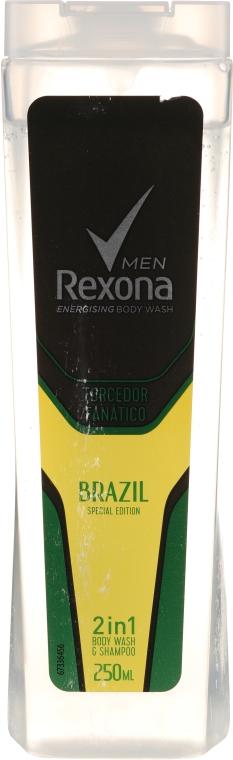 Shampoo gel doccia 2in1 - Rexona Men Brazil 2in1 Body Wash & Shampoo — foto N1