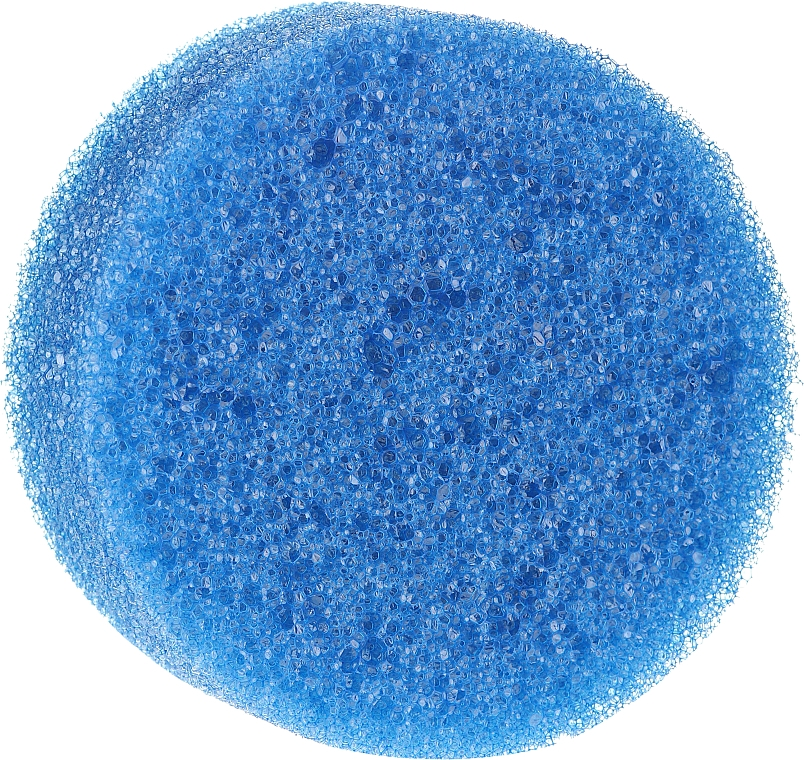 Spugna doccia anticellulite, tonda, blu - Inter-Vion