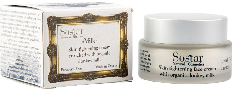 Crema viso rassodante - Sostar Skin Tightening Face Cream Enriched With Donkey Milk