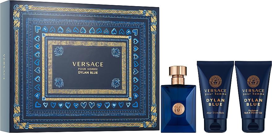 Versace Pour Homme Dylan Blue - Set (edt/50ml + 50ash/b + 50sh/g)