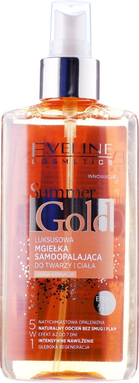 Spray 5in1, viso e corpo - Eveline Cosmetics Summer Gold Spray