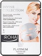 Profumi e cosmetici Maschera idratante - Iroha Divine Collection Platinum & Hyaluronic Acid