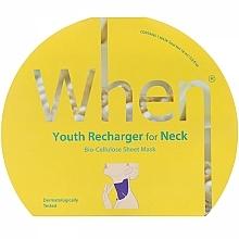 Profumi e cosmetici Maschera collo antietà in biocellulosa - When Youth Recharger For Neck Bio-Cellulose Mask