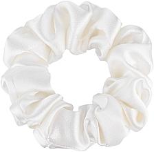 """Profumi e cosmetici Elastico capelli, in seta naturale, bianco, """"Midi"""" - Makeup Midi Scrunchie Milk"""