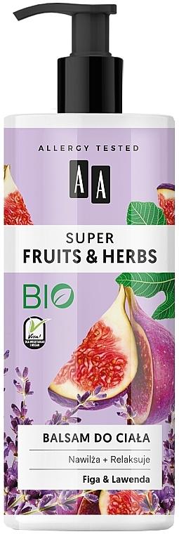"""Lozione corpo """"Fichi e lavanda"""" - AA Super Fruits & Herbs Fig And Lavender"""