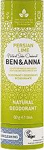 """Profumi e cosmetici Deodorante al bicarbonato """"Calce persiana"""" - Ben & Anna Natural Soda Deodorant Paper Tube Persian Lime"""