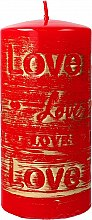 Profumi e cosmetici Candela decorativa dorata, 7x14cm - Artman Lovely