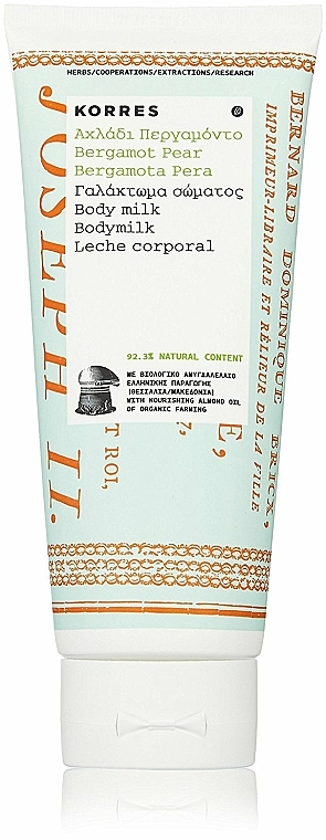 "Latte corpo ""Bergamotto e pera"" - Korres Bergamot Pear Body Milk — foto N2"