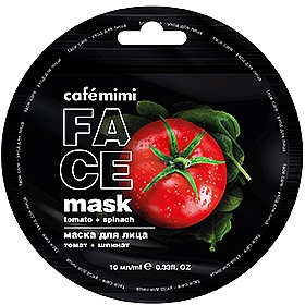 "Maschera viso ""Pomodoro e Spinaci"" - Cafe Mimi Face Mask"