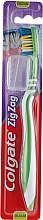 "Profumi e cosmetici Spazzolino da denti ""Zigzag plus"" durezza media №2, verde - Colgate Zig Zag Plus Medium Toothbrush"