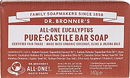 "Profumi e cosmetici Sapone ""Eucalyptus"" - Dr. Bronner's Pure Castile Bar Soap Eucalyptus"