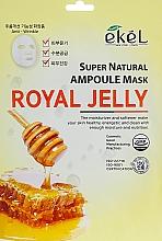 "Profumi e cosmetici Maschera in tessuto ""Pappa reale"" - Ekel Super Natural Ampoule Royal Jelly"