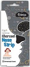 Profumi e cosmetici Cerotti purificanti per la pelle del naso - Cettua Charcoal Nose Strip