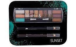 Profumi e cosmetici Set - Cosmetic 2K Night & Day (eye/sh/8,16g + eye/pen/2x0,6g)