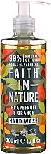 Profumi e cosmetici Sapone liquido con pompelmo e arancia - Faith in Nature Grapefruit & Orange Hand Wash