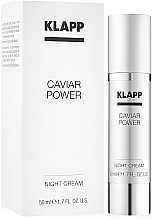 "Profumi e cosmetici Crema notte ""Caviar Power"" - KlappCaviar Power Night Cream"