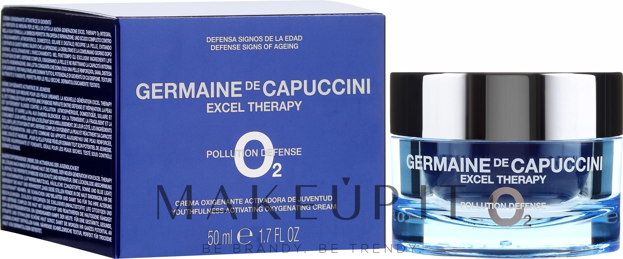 Crema viso rigenerante - Germaine de Capuccini Excel Therapy O? Pollution Defence Youth.Activating Oxygenating Cream — foto 50 ml