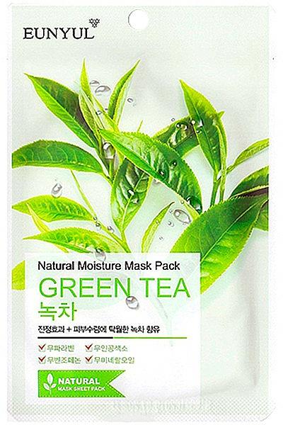 Maschera in tessuto idratante all'estratto di tè verde - Eunyul Natural Moisture Mask Pack Green Tea