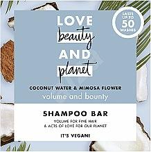 """Profumi e cosmetici Shampoo solido volumizzante """"Cocco e Mimosa"""" - Love Beauty And Planet Coconut & Mimosa Shampoo"""