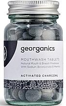 """Profumi e cosmetici Compresse di colluttorio """"Carbone attivo"""" - Georganics Mouthwash Tablets Activated Charcoal"""