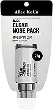 Profumi e cosmetici Maschera viso, nera - Alice Koco Black Clear Nose Pack