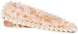"""Profumi e cosmetici Fermacapelli """"Quarzo rosa"""" - Crystallove Rose Quartz Hair Clip"""