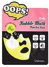 Profumi e cosmetici Maschera in tessuto schiumogeno per pori - Berrisom Soda Bubble Mask PoreTox Fruit