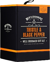 Profumi e cosmetici Scottish Fine Soaps Men's Grooming Thistle & Black Pepper - Set (edt/50ml + b/wash/75ml + ash/balm/75ml)