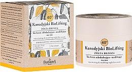 Profumi e cosmetici Bio-crema rigenerante e modellante 40+, da notte - Farmona Canadian BioLifting Yellow Birch